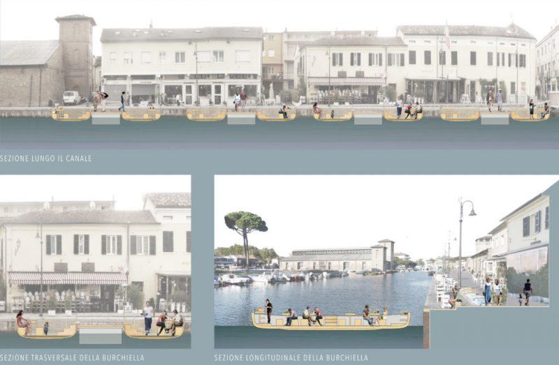 Riuso antiche burchielle per lo sviluppo del centro storico di Cervia