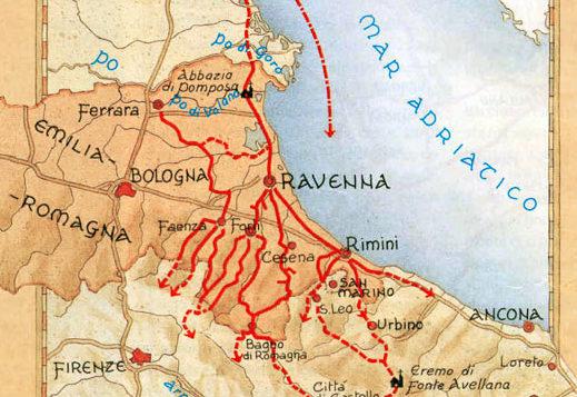Percorso cicloturistico Via dei Romei
